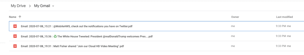 Export Emails to Google Drive as PDF