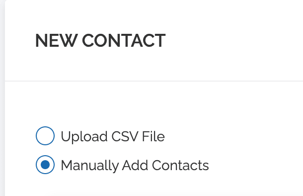 Manually Add contacts