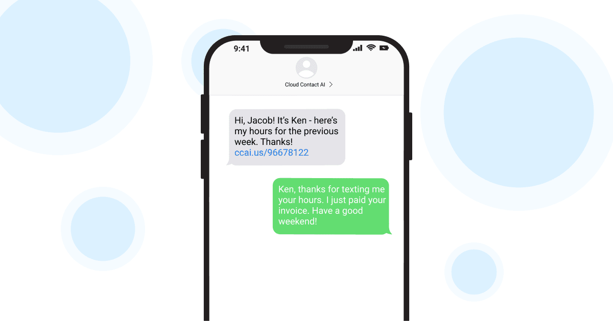 SMS Invoicing
