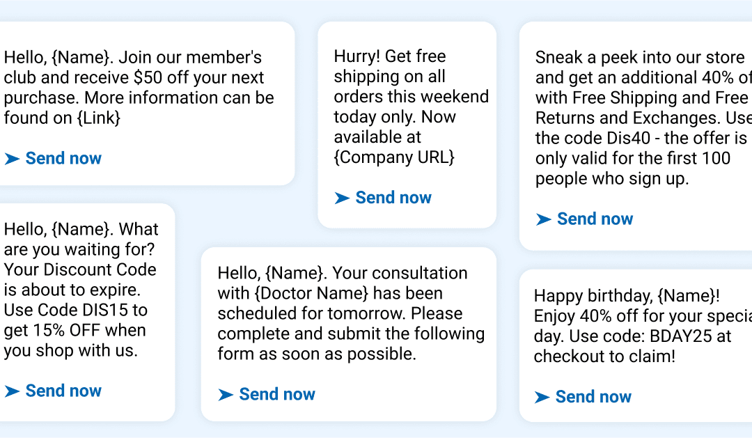 80+ Sales Text Message Templates for Every Industry
